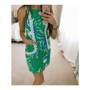 Lily Pulitzer // Green and blue shift dress